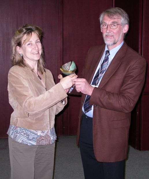 The fifth Iscowa award has been awarded to Annette Johnson at Wascon 2006 in Belgrade.
